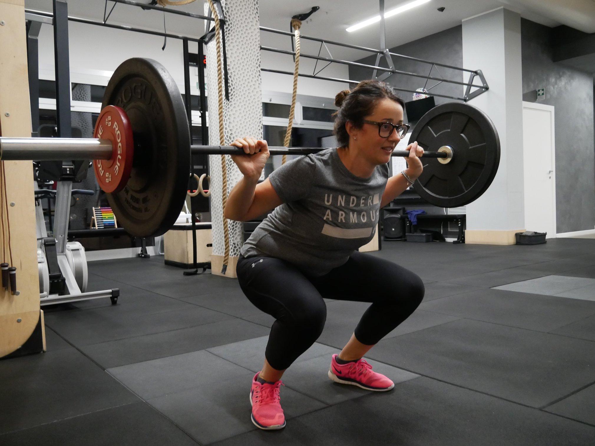back squat esercizio crossfit